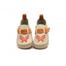 LEO Beige with Orange Slippers