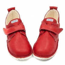 AKITA Red in Vegetable Tanned Leather