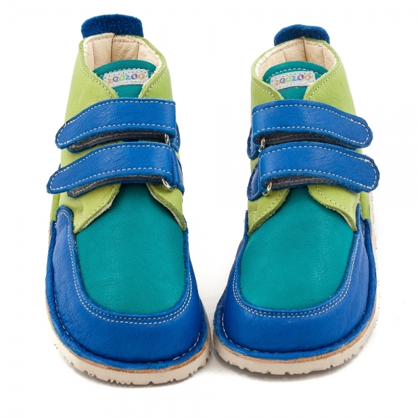 FOX Manga Blue in Vegetable tanned leather