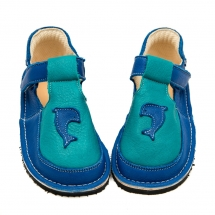 ROBIN Blue with Turquoise in Vegetable Tanned Leather